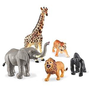 Learning Resources- Animales Jumbo de la Jungla, Color (LER0693)