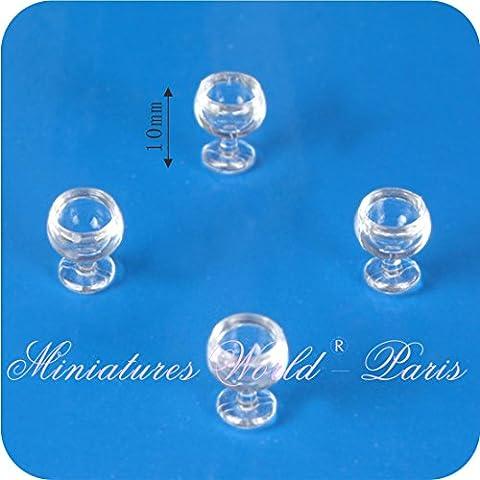 Accesoire miniature de maisons de poupées - 4 Verres 1/24ème