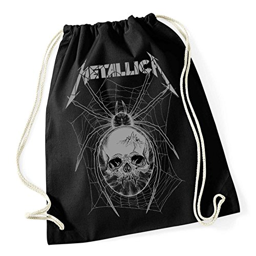 Metallica Gym Bag Grau Spider band logo Nue offiziell (Hoodie Kids Spider)