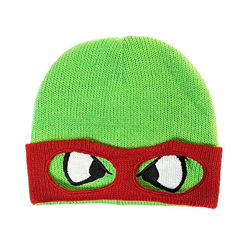 Teenage Mutant Ninja Turtles Raphael Retro Mütze doppellagig umklappbarer Rand mit Augenausschnitten (Teenage Mutant Ninja Turtles Ratte)