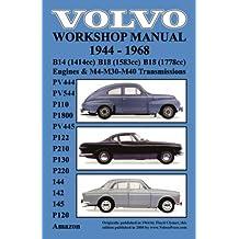 Volvo 1944-1968 Workshop Manual Pv444, Pv544, P110, P1800, Pv445, P122, P120 & Amazon, P210, P130, P220, 144, 142 & 145