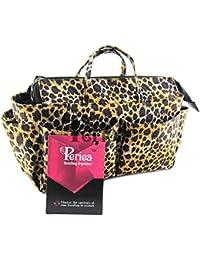Periea Organiseur de sac à main 13 Compartiments + mousqueton GRATUIT - Léopard (Or) - Nikki