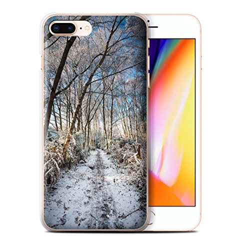 Stuff4 Hülle / Case für Apple iPhone 8 Plus / Pack 7pcs / Winter Saison Kollektion Gefrorenen Weg
