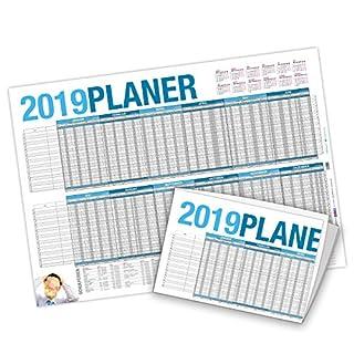 itenga Urlaubsplaner 2019 Wandkalender DIN A2 (59,4 x 42,0 cm) 250g/m² Personalplaner, gefalzt