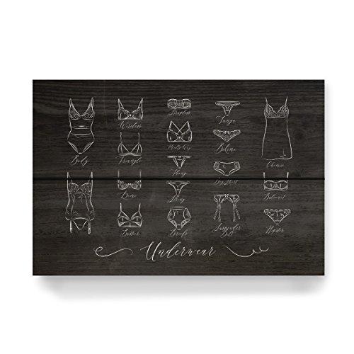 Demi-tangas (artboxONE Holzbild 30x20 cm Fashion
