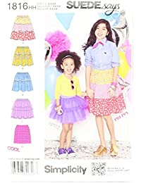 Simplicity Pattern 1816 Suede Says Collection Child's and Girl's Skirts Size, 3-4-5-6