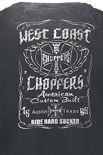 West Coast Choppers Winged Skull T-Shirt grau Schwarz