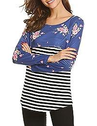 Yefree Ropa de Lactancia Materna Multifuncional para Mujeres Mujeres Embarazadas Que amamantan suéter de Primavera otoño T-Shir