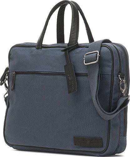 URBAN FOREST, Aktentaschen, Laptoptaschen, Notebooktaschen, Business-Bags, Messenger, Messengerbags, Umhängetaschen, Briefcase, DIN-A4, 38,5 x 29 x 9 cm (B x H x T), Farbe:Blau Blau
