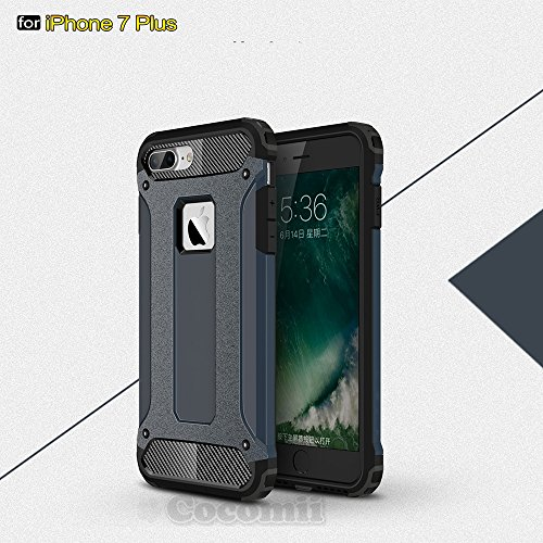 iPhone 7 Plus Carcasa, Cocomii [HEAVY DUTY] Commando Case **NUEVO** [ULTRA BONIC ARMURE] Premium Étanche ? La Poussi?re Résistant Aux Chocs Bumper [DEFENSOR MILITAR] Corps Plein Robuste Hybride Double Couche De Protection Cover Bumper Case [COCOMII GARANTIE] ::: La Protection Ultime Contre Les Chutes Et Les Impacts Pour Votre Apple iPhone 7 Plus (Metal Slate) ::: ?????