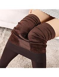 HARRYSTORE Mujer Pantalones elásticos leggings Mujeres invierno grueso cálido forrado traje láser térmico