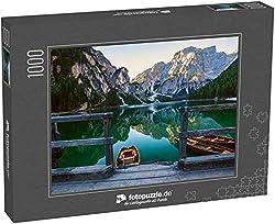 Puzzle 1000 Teile Boote auf dem Pragser Wildsee in den Dolomiten, Sudtirol, Italien - Klassische Puzzle, 1000/200/2000 Teile, in Edler Motiv-Schachtel, Fotopuzzle-Kollektion 'Italien'