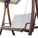 Hollywoodschaukel aus Holz Lärche für 2-Sitzer KUREDO (o. GESTELL!!!) von AS-S