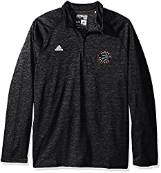 NBA Toronto Raptors Mens Climalite Ultimate Long Sleeve 1/4 Zip Left Chest Logo Jacket, Black, 4X-Large