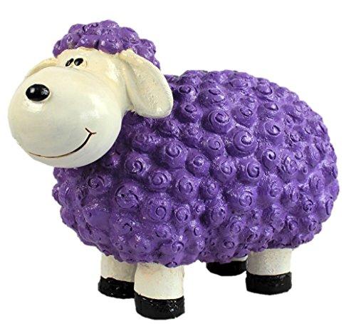 Figurine de mouton Bärbel Violet à motifs moutons animaux Multicolore Figurines pour la maison et le jardin