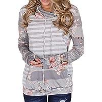 Hanomes Damen pullover, Frauen Langarm Casual Striped Stitching Pullover Sweatshirts Top Bluse preisvergleich bei billige-tabletten.eu