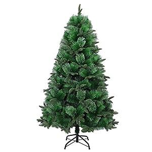 Gifts 4 All Occasions Limited SHATCHI-1238 SHATCHI - Árbol de Navidad artificial (180 cm, 5 puntas diferentes), color verde