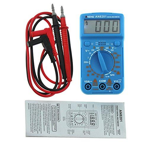 Wanfor ANENG AN8201 Digitales Multimeter AC/DC Amperemeter Voltmeter Ohm Elektrischer Tester blau