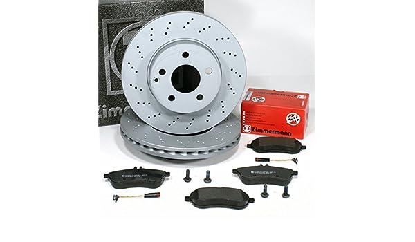 Warnsensoren f/ür vorne Zimmermann Bremsscheiben Coat Z//Bremsen Bremsbel/äge hinten