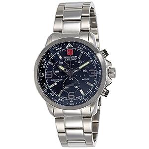 Swiss Military Hanowa Herren Analog Quarz Uhr mit Edelstahl Armband 06-5250.04.007