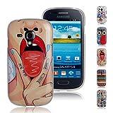 Ganvol TPU Custodia Morbido per Samsung Galaxy S3 Mini, Case Silicone Cover Protettiva Caso (Bite Me)