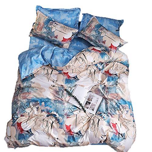 BFMBCH Modelli di esplosione, nuovi prodotti, fogli a grandezza Naturale, Stampa a Colori singoli, TRE o Quattro Set di biancheria da letto A 220 cm * 230 cm