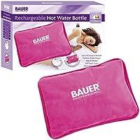 Bauer aufladbare elektrische Wärmflasche mit Soft Touch Cover, pink preisvergleich bei billige-tabletten.eu
