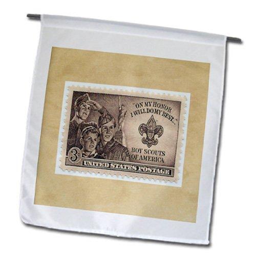 3dRose FL_174645_1 Bild von Pfadfinder, Poststempel, Gartenflagge, 30,5 x 45,7 cm (Pfadfinder-kunst)