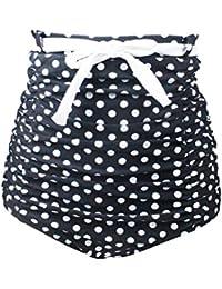 YoungSoul Conjuntos para mujer - Bikini de talle alto retro con detalle de botones - Bañadores push up con cuello halter - Trajes de baño de dos pieza