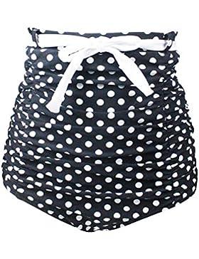 YoungSoul Ropa de baño para mujer - Trajes de baño de talle alto vintage - Shorts de baño playa - Braguitas de...