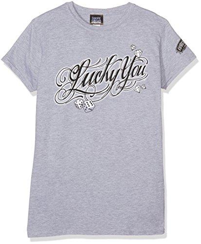 Suicide Squad Damen T-Shirts Lucky You Grau