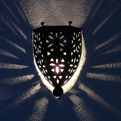 Lámpara de pared oriental árabe decoración de la lámpara de hierro Marruecos
