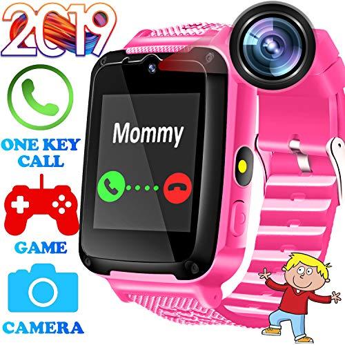 Kid Smart Watch Telefon SOS Tracker für Jungen Mädchen Spiel Sport Uhr mit Anti-Lost Kamera Elektronisches Lernspielzeug Armbanduhr Armband für Geburtstag Weihnachten Urlaub Spielzeug Geschenk