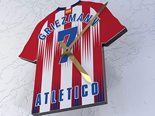 MyShirt123 Atlético de Madrid FC Club de fútbol–Camiseta de fútbol Reloj–Cualquier Nombre y Cualquier número–Elegir.