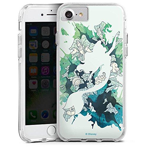 Apple iPhone 7 Plus Bumper Hülle Bumper Case Schutzhülle Arielle Meerjungfrau Disney Bumper Case transparent