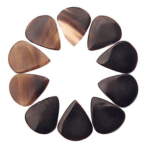 H HILABEE 10 Stück Gitarre Plektrum Plektron Picks Pick Plektrum 0,8 mm- 1.20mm für Ihre elektrische, akustische oder Bass-Gitarre