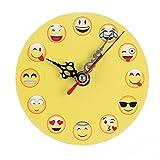 Elecenty interessante Orologio Emoticon silenzioso Sweep Emoji Bell Desk Orologio digitale creativo (D, 11.0 cm * 11.0 cm * 2.0 cm)