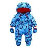 Bambino Tute da neve Neonato Hooded Pagliaccetti Body Overalls (3-6 Mesi)
