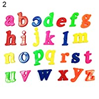 Recoproqfje Kid Learning Toy With Alphabet Letters Lower/Upper Case Number Fridge Magnet 26Pcs