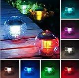 Solarbetriebene Wasserdichte LED-Lampe bunten Schwimm Pfad anzeigen Landschaft Teich Spa Whirlpool-Kugel-Licht mit 7 Farben ändern