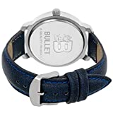 Bullet BLT_20 Smooth Looks Blue Dial & Leather Strap Casual Analog Men's Watch