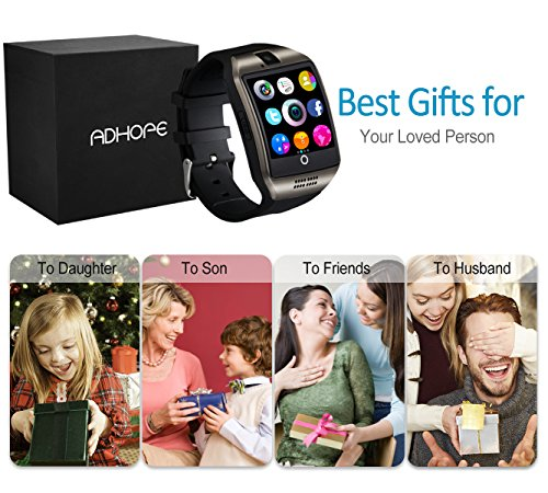 Bluetooth Smart Watch con cámara  pantalla táctil desbloqueada Reloj celular con ranura para tarjeta SIM para Android iOS Smartphone Hombres Mujeres Niños Kids Idea de regalo