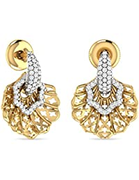 PC Jeweller The Kienan 18KT Yellow Gold And Diamond Stud Earrings For Women