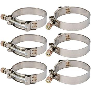 5 pi/èces AUPROTEC Collier de Serrage /à vis BREEZE en acier inoxydable V2A W4 DIN 3017 choix 35-50 mm