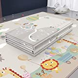 A Baby Cherry Foldable, Reversible, Thickest XPE Foam Play Mat for Infants and Kids (Multicolour, 195 X 180 Extra Large…