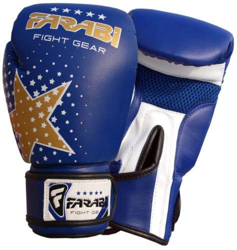 Farabi Junior Starlux Handschuh-Serie für die Jugend für Kinderboxen, gemischte Kampfkünste MMA Muay Thai, Kickboxen Abbildung 3