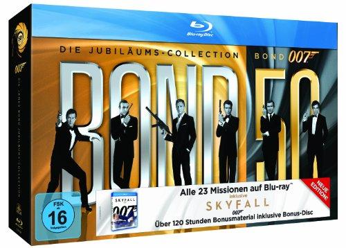 James Bond 007: Die Jubiläums-Collection inkl. Skyfall (24 Discs) [Blu-ray]