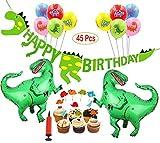 Mattelsen Decoración de Cumpleaños Dinosaurios 3D Happy Birthda