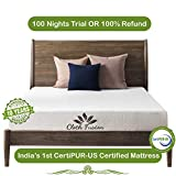 Cloth Fusion Fruton 2nd Gen 6 inch Gel Memory Foam Mattress for Queen Size Bed (72' x 60' x 6', White)