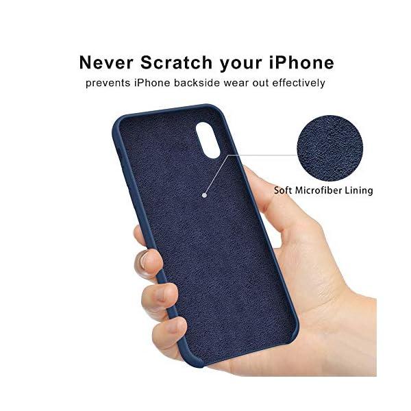 Oihxse Mate Líquido de Silicona Gel Funda - Compatible con Samsung Galaxy A50 Ultra Fina Suave Protección Carcasa… 3